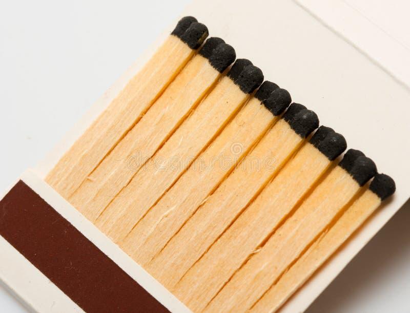 Emparejamientos de madera en matchbook fotografía de archivo