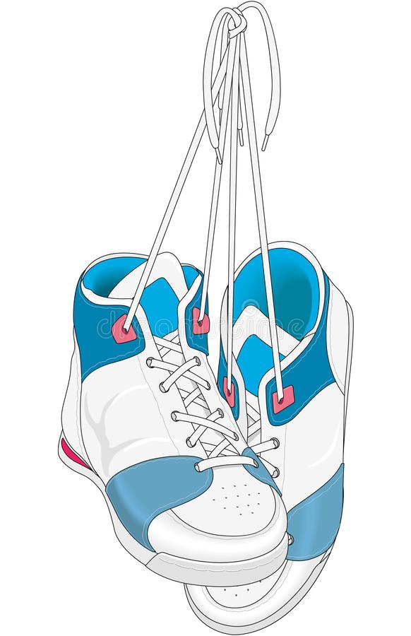 Emparelhe da ilustração do vetor das sapatilhas ilustração stock