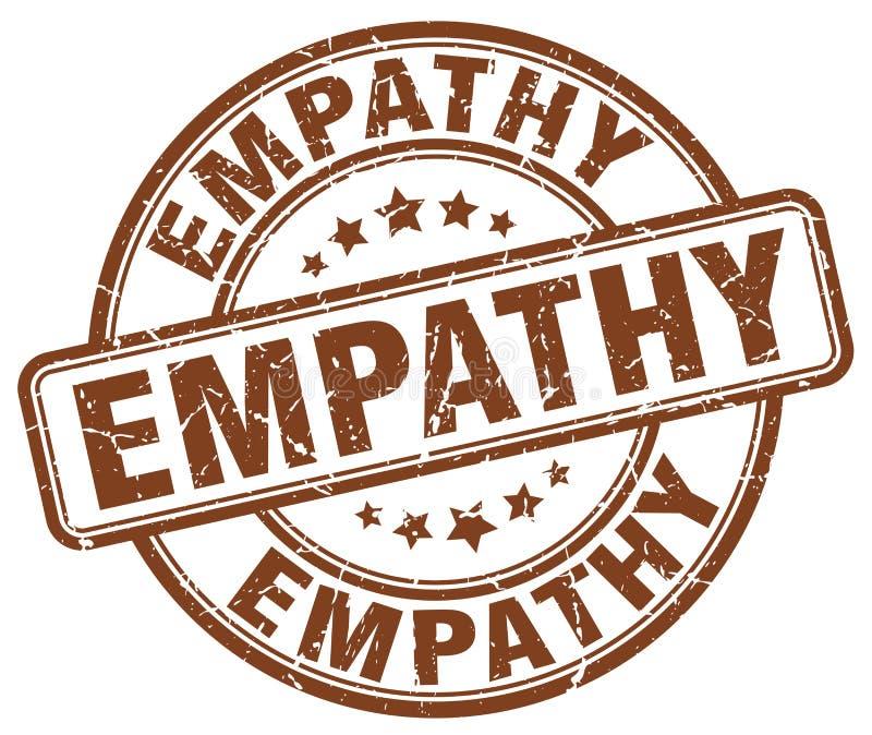 empathie bruine zegel royalty-vrije illustratie