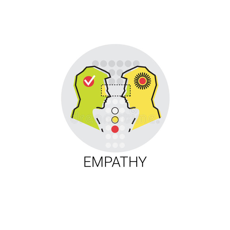 Empathie-Mitleid-Leute-Verhältnis-Ikone lizenzfreie abbildung