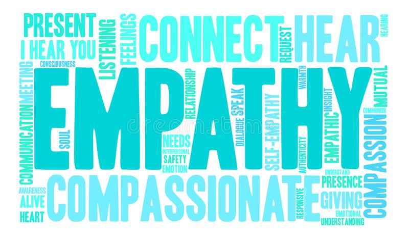 Empathieword Wolk vector illustratie