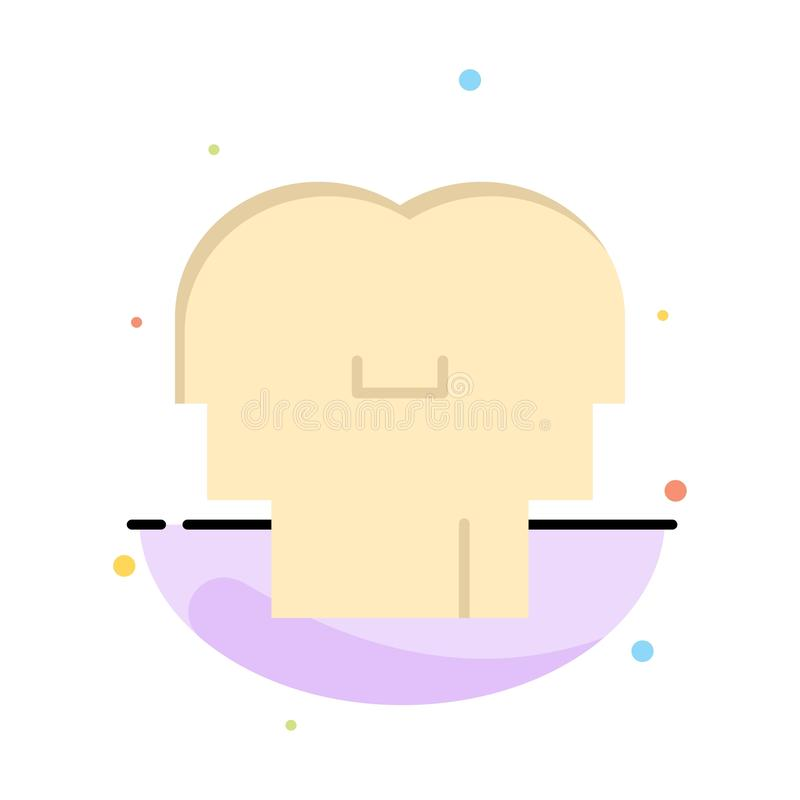 Empathy, Feelings, Mind, Head Abstract Flat Color Icon Template stock illustration