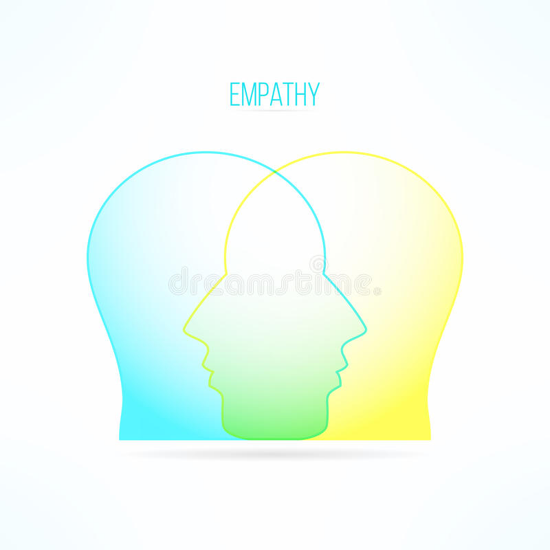 Empathy icon. Empathic person concept. Compassion design. Compassionate feelings and emotions vector illustration