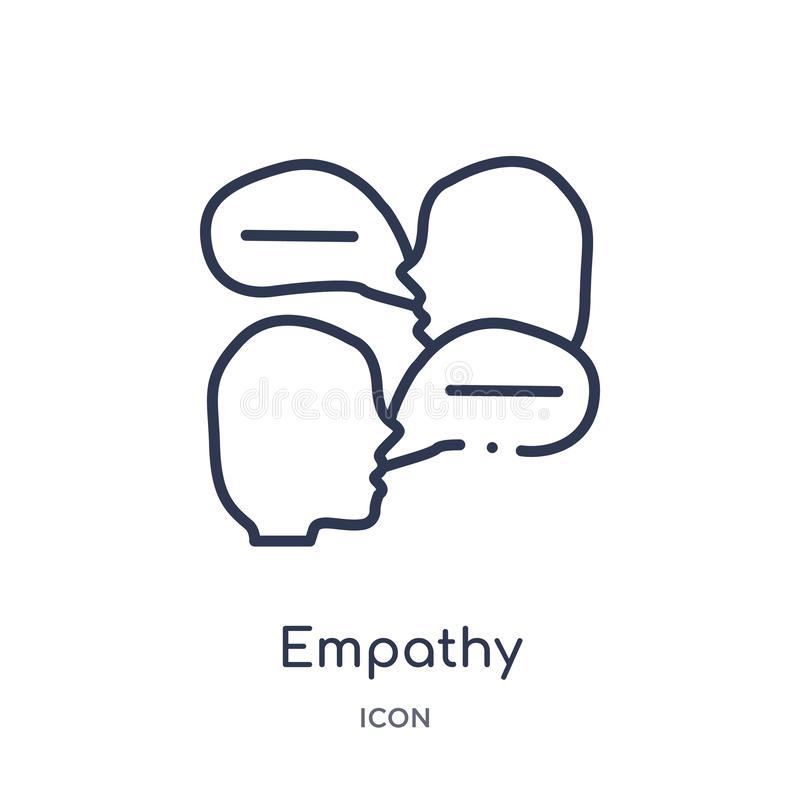 Empathy icon from people skills outline collection. Thin line empathy icon isolated on white background royalty free illustration