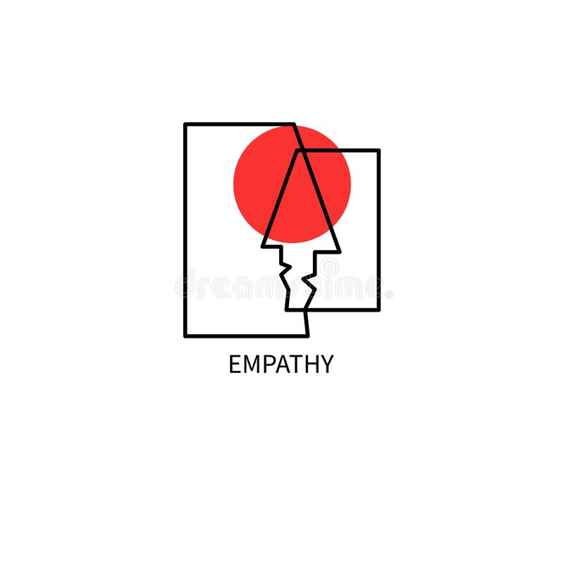 Empathy icon, psychotherapy vector illustration