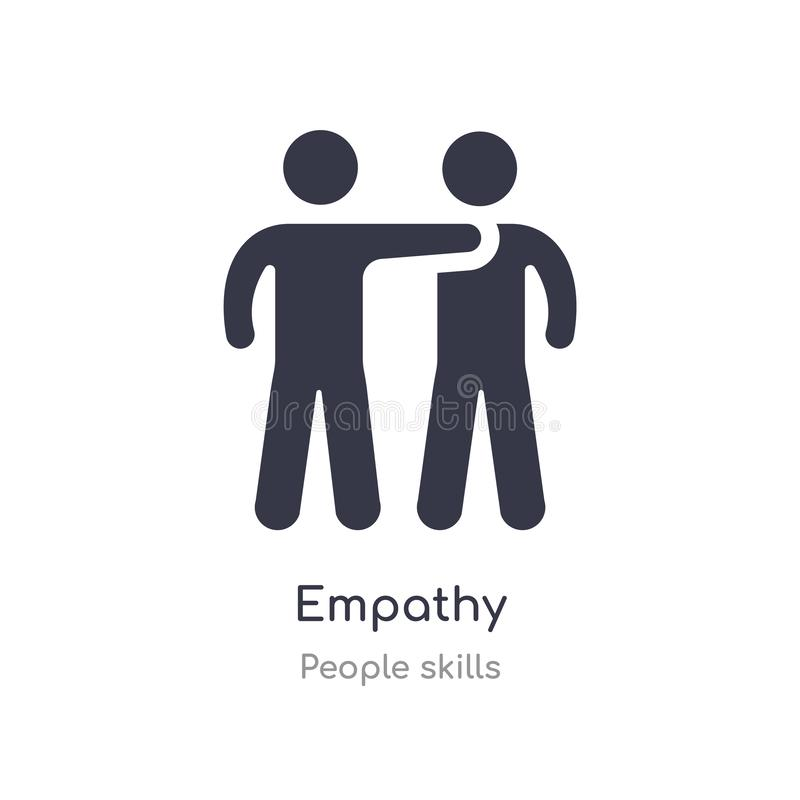 Empathy outline icon. isolated line vector illustration from people skills collection. editable thin stroke empathy icon on white. Background vector illustration