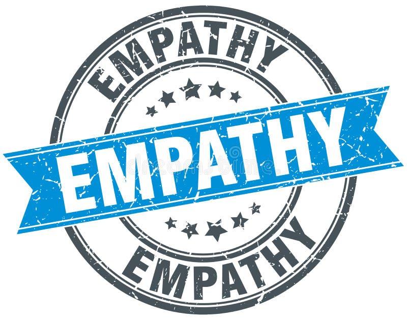 Empathy round grunge stamp. Empathy round grunge ribbon stamp stock illustration