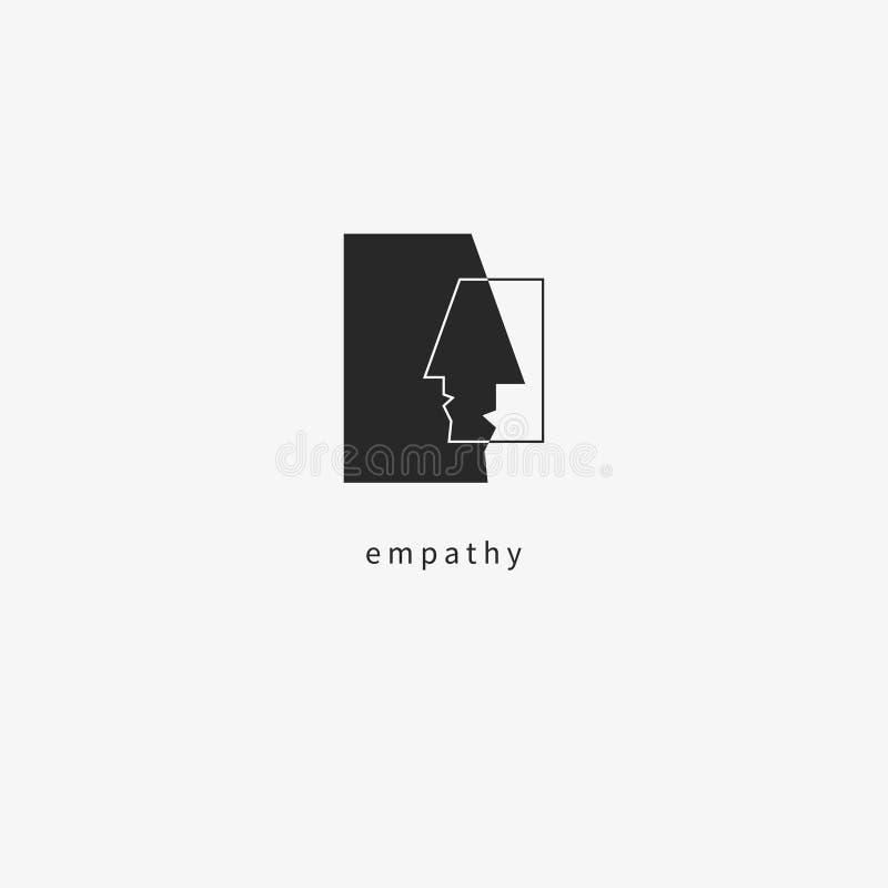 Empatia czarny piktogram ilustracji