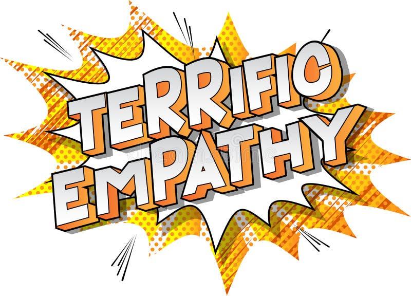 Empatia formidabile - parole di stile del libro di fumetti royalty illustrazione gratis