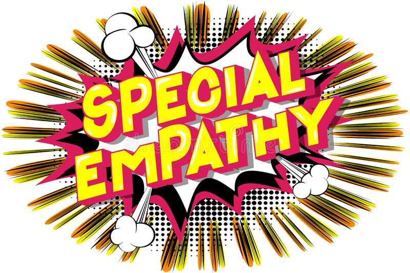 Empatia speciale - parole di stile del libro di fumetti illustrazione vettoriale