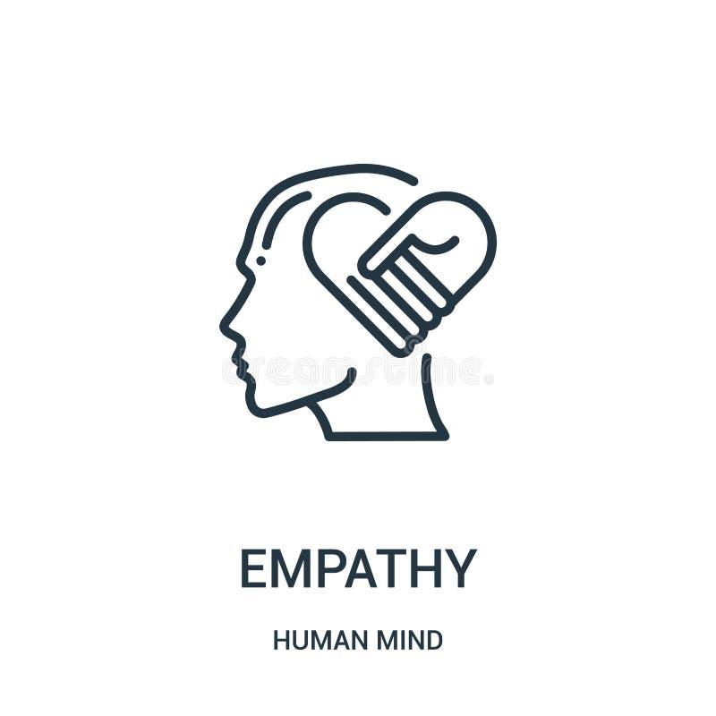 empatii ikony wektor od ludzki umysł kolekcji Cienka kreskowa empatia konturu ikony wektoru ilustracja Liniowy symbol dla używa n ilustracja wektor