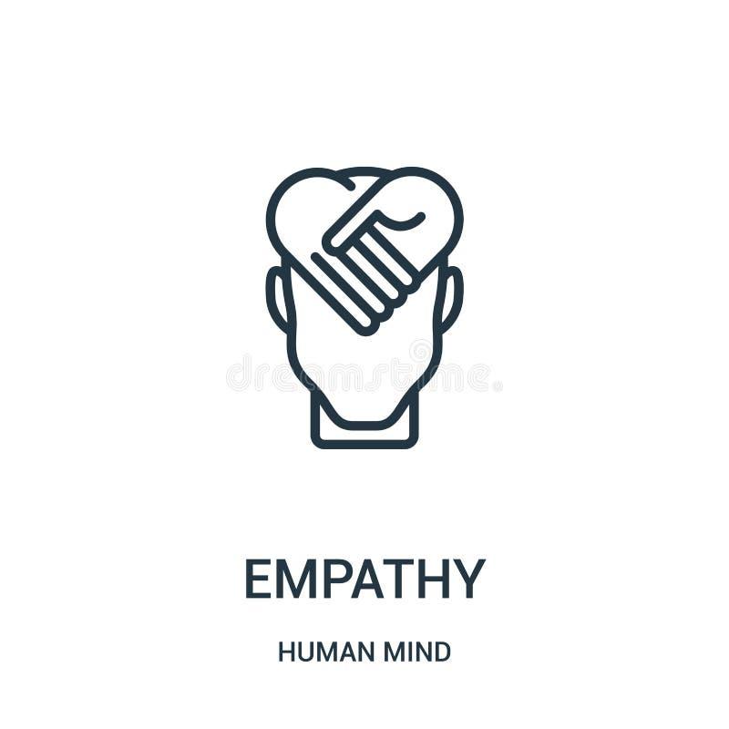 empatii ikony wektor od ludzki umysł kolekcji Cienka kreskowa empatia konturu ikony wektoru ilustracja Liniowy symbol dla używa n royalty ilustracja