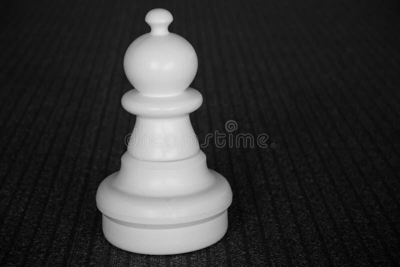 Empeño blanco del ajedrez aislado fotos de archivo libres de regalías