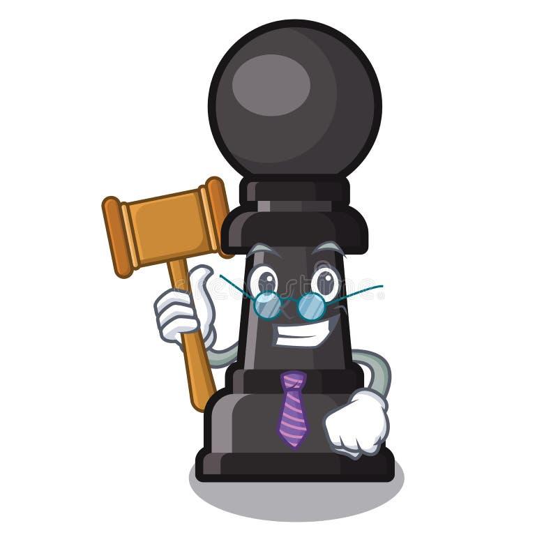 Empeño del ajedrez del juez encendido en el carácter libre illustration