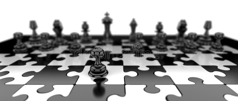 Empeño negro del ajedrez ilustración del vector