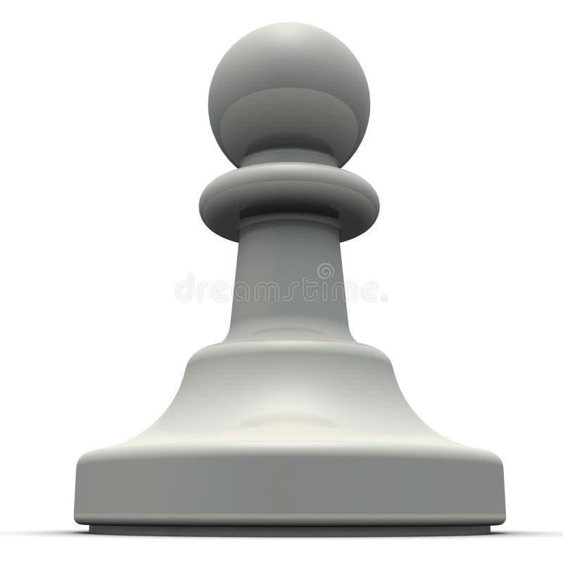 Empe?o blanco chessmen stock de ilustración