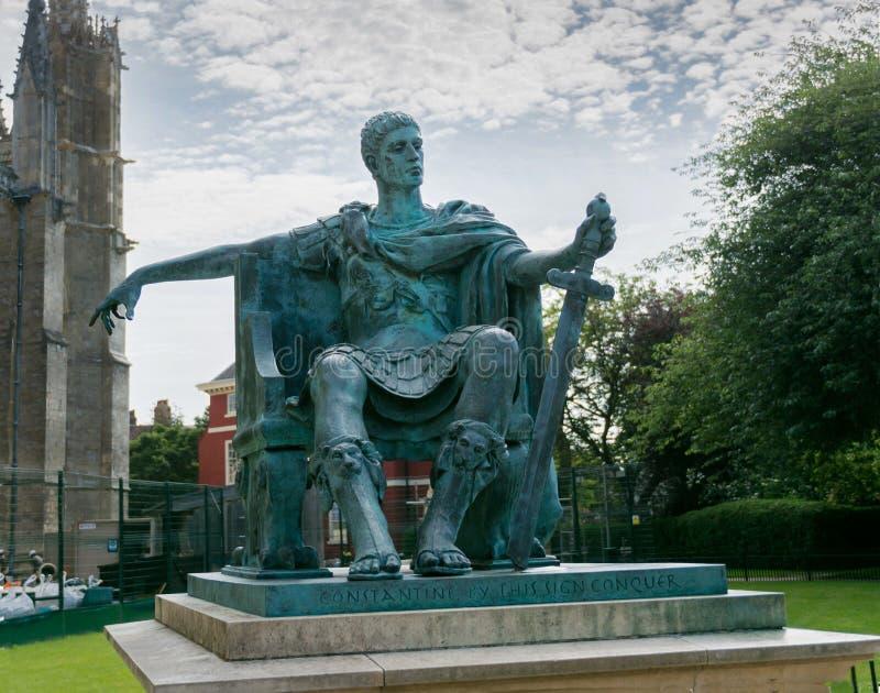 Emperador Constantina el grande en York fotos de archivo libres de regalías