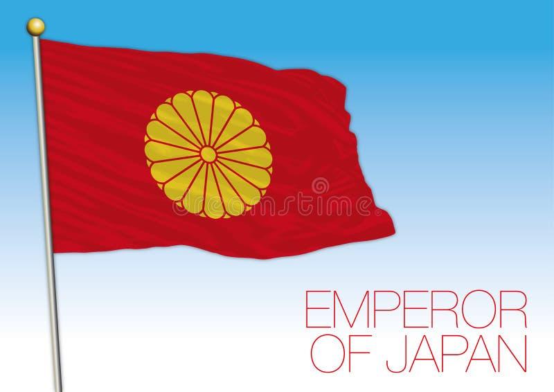 Emperador de la bandera de Japón, Japón stock de ilustración