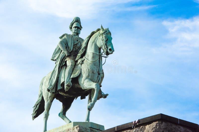 Emperador Guillermo del monumento I imagenes de archivo