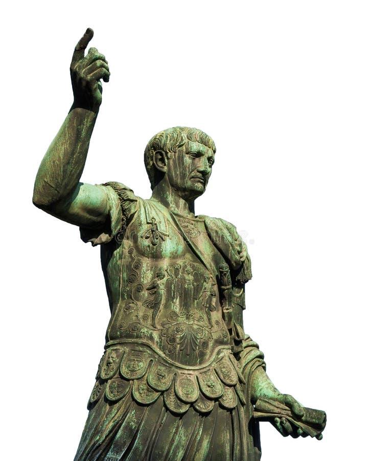 Empereur Caesar Augustus Trajan le conquérant images stock