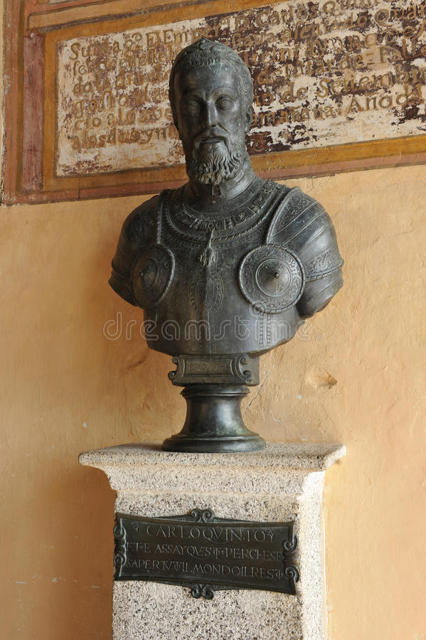 Emperor Charles V in the Monastery of Yuste, province of Caceres, Spain stock image