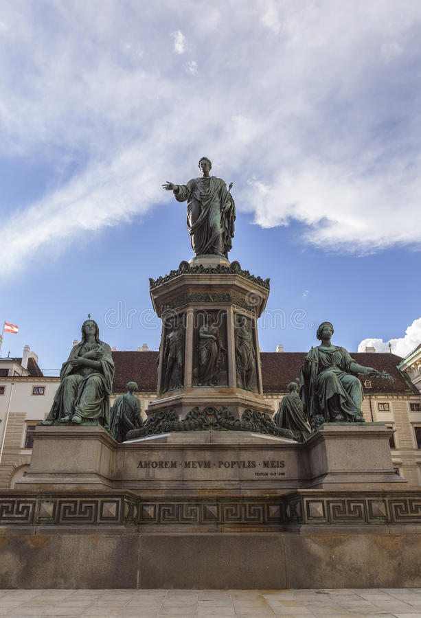 Emperor Franz I Monument stock photography