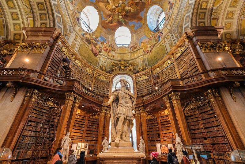 Emperor Karl VI Statue in Hofburg Library royalty free stock images