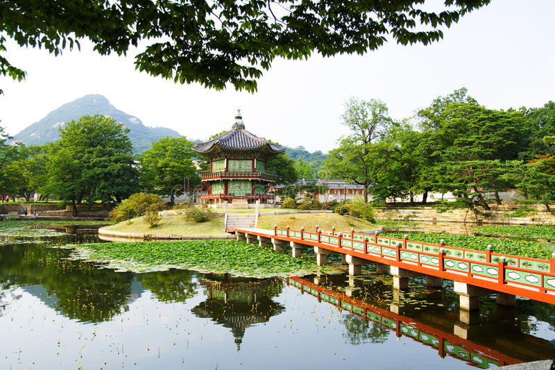 Download Emperor palace at Seoul stock image. Image of house, green - 10405535