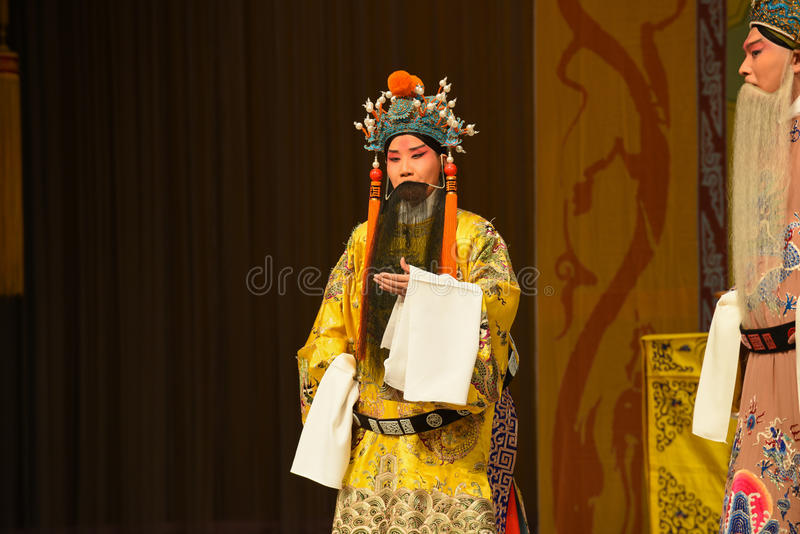 """Emperor of the Song Dynasty- Beijing Opera"""" Women Generals of Yang Family"""". This opera tells a patriotic story how does an old woman of a hundred stock images"""