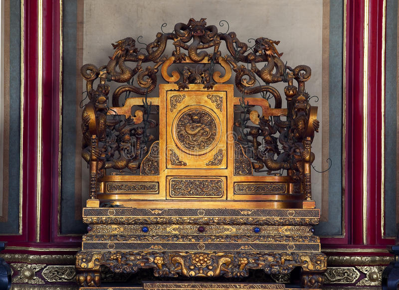 Download Emperors Throne Forbidden City Beijing China Stock Image - Image: 12240065