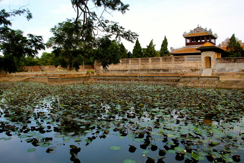 Emperors village ,Hue main house. Emperors village Hue main house Vietnam stock images