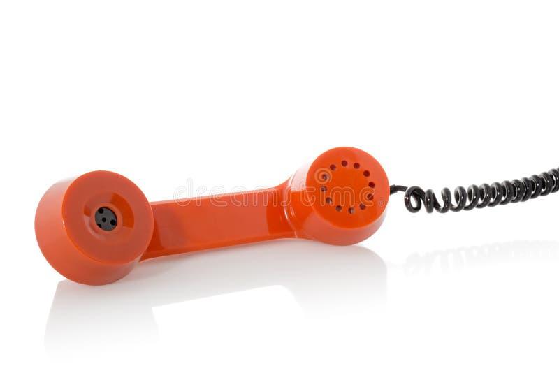 Empfänger des alten Telefons, lokalisiert auf Weiß stockbild