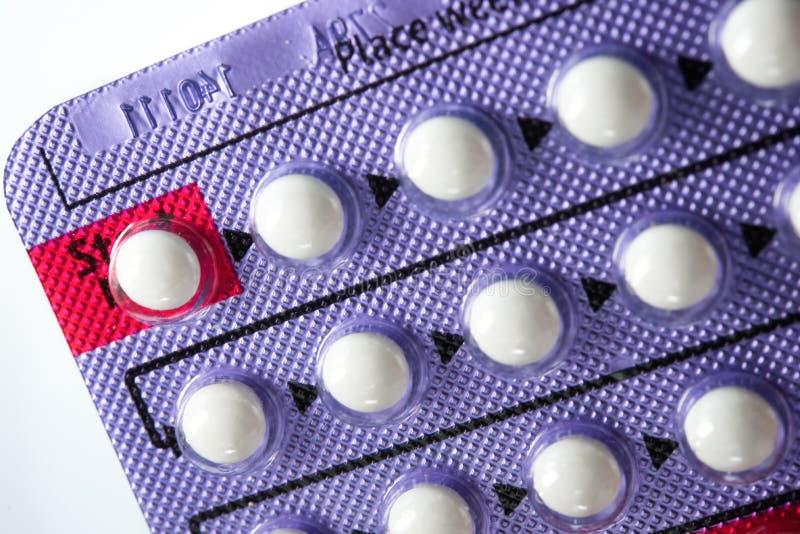 Empfängnisverhütende Pille lizenzfreie stockfotografie