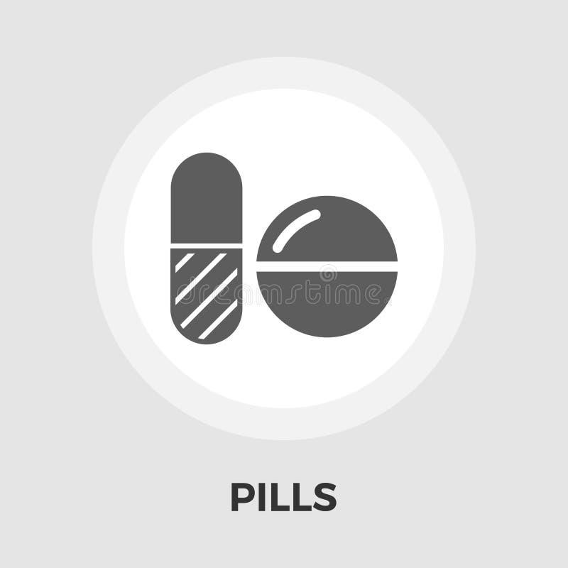 Empfängnisverhütende Pillen vector flache Ikone lizenzfreie abbildung