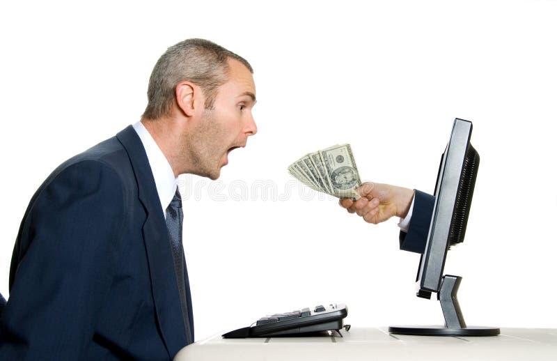 Empfangen des Geldes lizenzfreie stockfotos