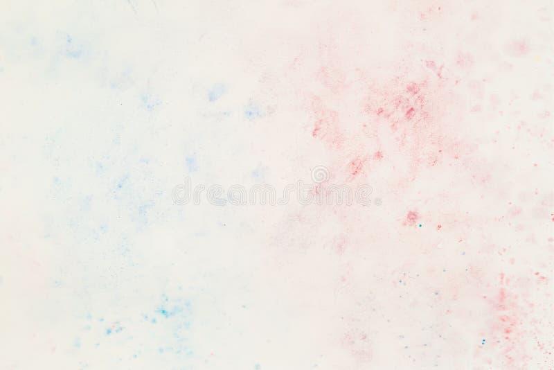 Empfindlich in weichen Pastell-colorwater Schatten, Spritzenfleck des Weißbuches Abstrakter Aquarellhintergrund stock abbildung