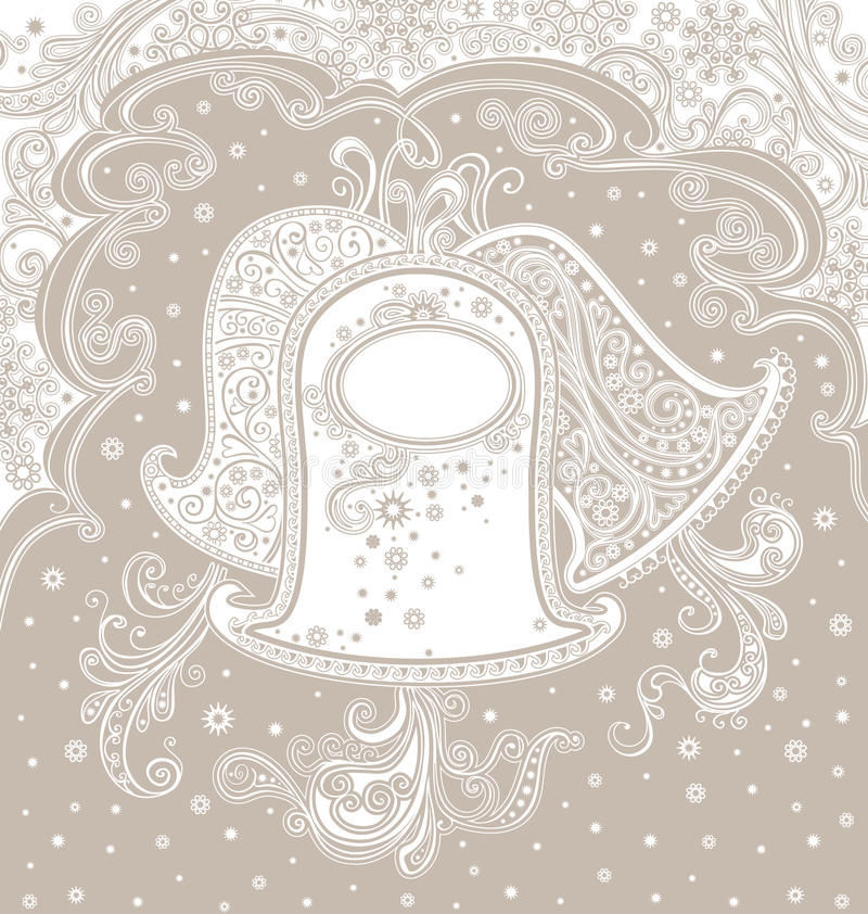 Empfindliche Glocken stock abbildung