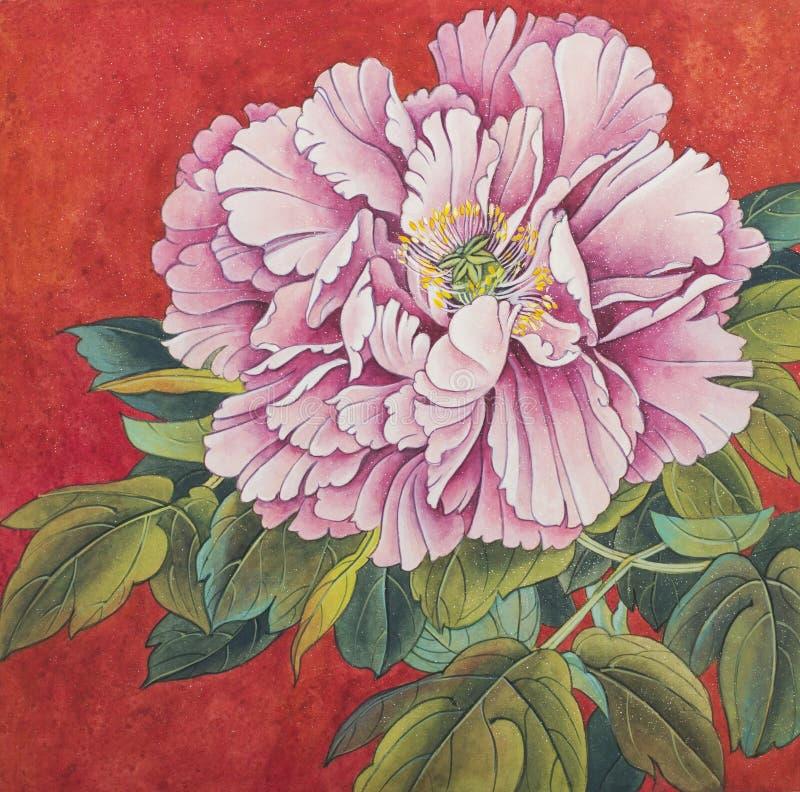 Empfindliche Pfingstrosenblume stock abbildung