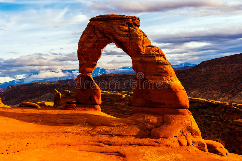 Empfindlicher Bogen, Bögen Nationalpark, Utah stockfotos