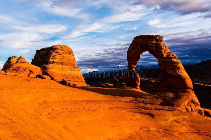 Empfindlicher Bogen, Bögen Nationalpark, Utah stockbild