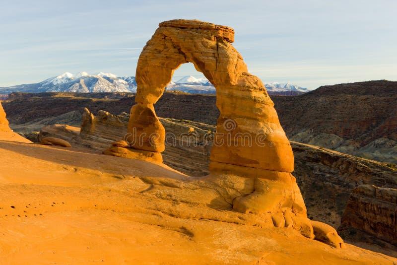 Empfindlicher Bogen, B?gen Nationalpark, Utah, USA stockbild
