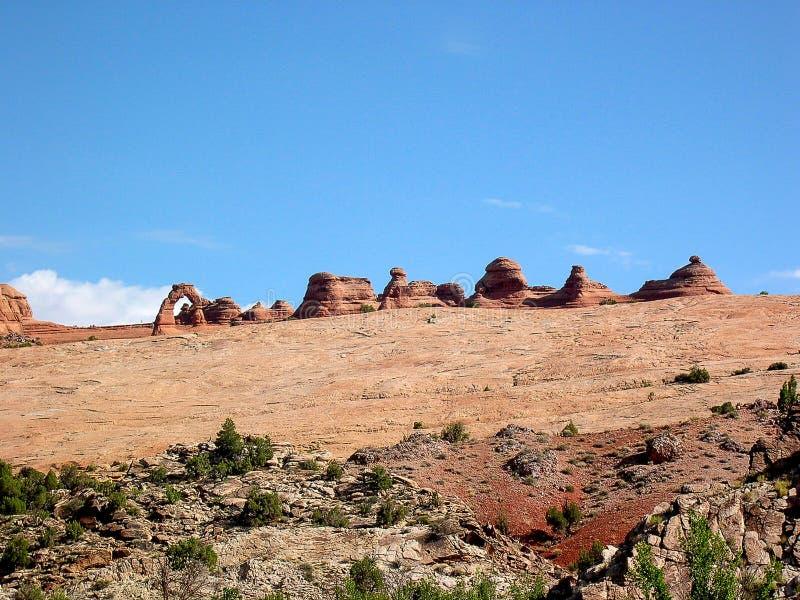 Empfindlicher Bogen-Standpunkt, Bögen Nationalpark, Utah, USA stockbild