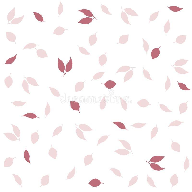 Empfindlicher Herbstweinlese-Arthintergrund Nahtloses Muster des kreativen Vektors mit Blättern lizenzfreie abbildung