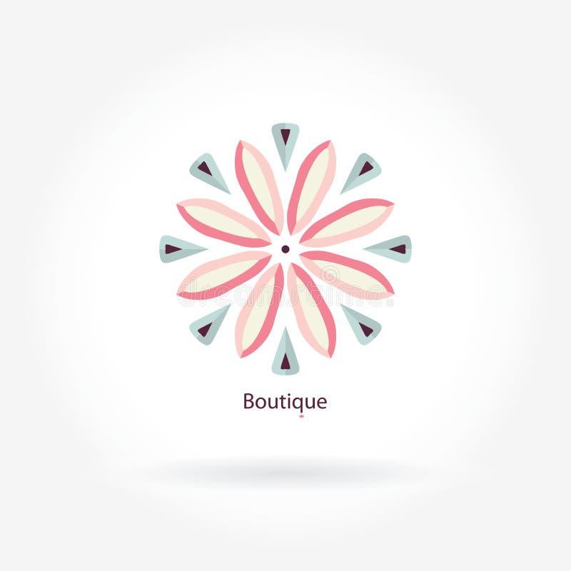 Empfindliches Logo Mandalalogo Ikonen, Geschäft, Einladungen weinlese Lineares Firmenzeichen vektor abbildung