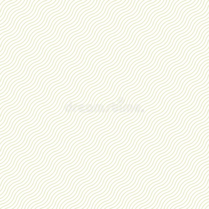 Empfindliches nahtloses gestreiftes Wellenmuster Ähnlich Papier, Stoff, Textilbeschaffenheit lizenzfreie abbildung