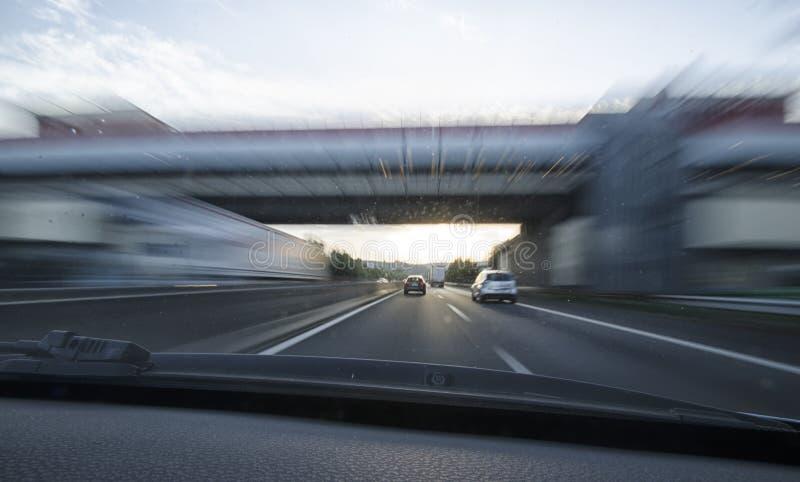 Empfindung der Geschwindigkeit stockfotografie