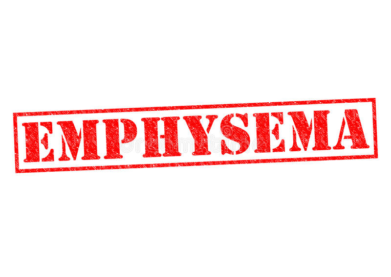EMPHYSEMA stock illustration
