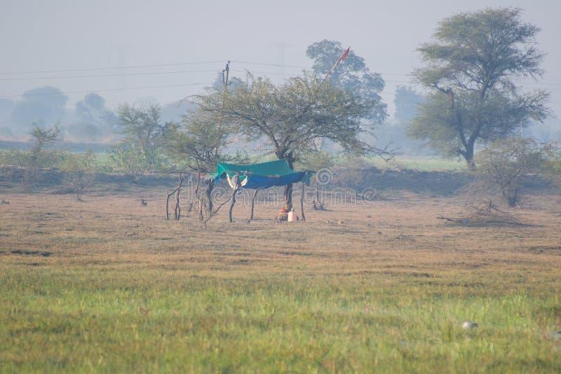 Empiétement de lac et de marécage en Inde photo libre de droits
