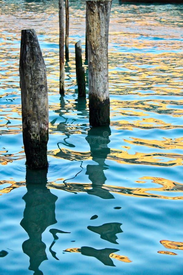 Empilages dans l'eau photo stock