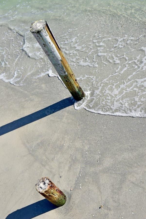 Empilages dans le sable image libre de droits